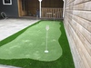 Golf green in de tuin