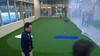 Indoorgolf green met kunstgras