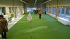 Indoor putting green met kunstgras
